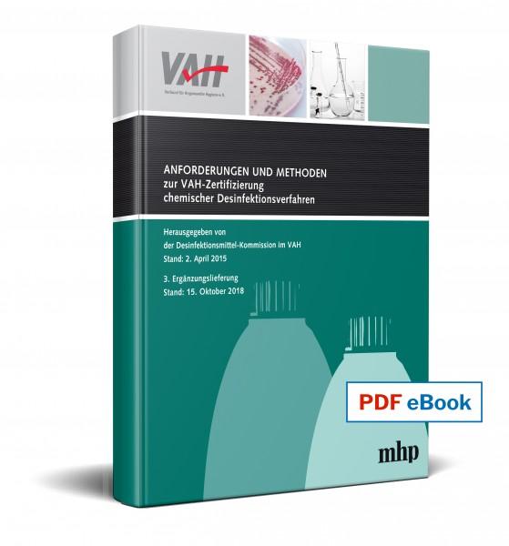 eBook - 3. Ergänzung zu Anforderungen und Methoden zur VAH-Zertifizierung von Desinfektionsverfahren