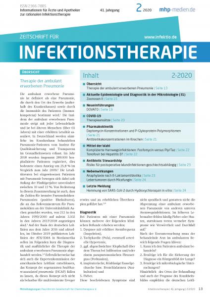 Zeitschrift für Infektionstherapie 02/2020