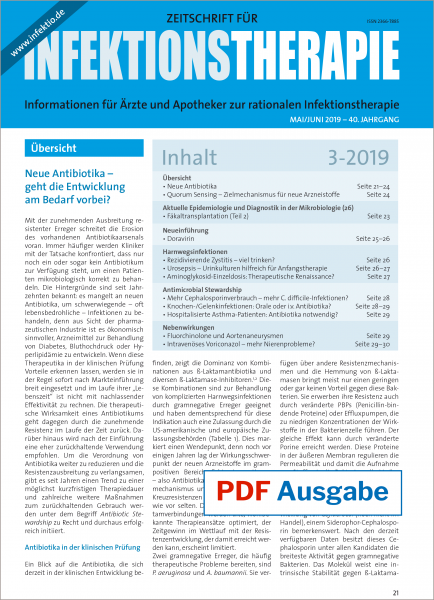 PDF Ausgabe - Zeitschrift für Infektionstherapie 03/2019