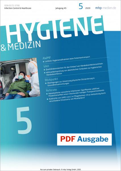 PDF Ausgabe - HYGIENE & MEDIZIN - 05/2020