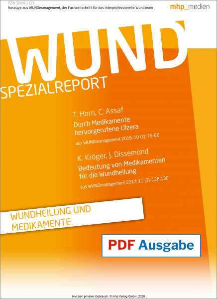 """WUND Spezialreport """"Wundheilung und Medikamente"""" pdf-Ausgabe"""