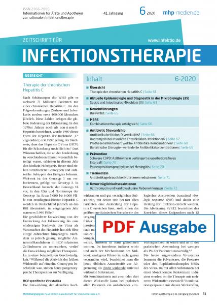 PDF Ausgabe - Zeitschrift für Infektionstherapie 06/2020