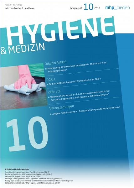 Hygiene & Medizin 10/2018