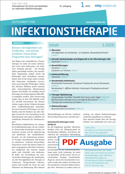 PDF Ausgabe - Zeitschrift für Infektionstherapie 01/2020