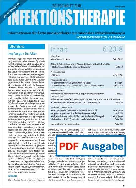 PDF Ausgabe - Zeitschrift für Infektionstherapie 06/2018
