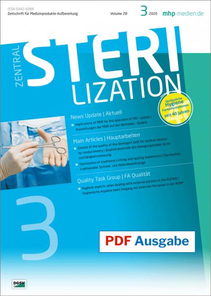 PDF Ausgabe - ZENTRALSTERILISATION 03/2020