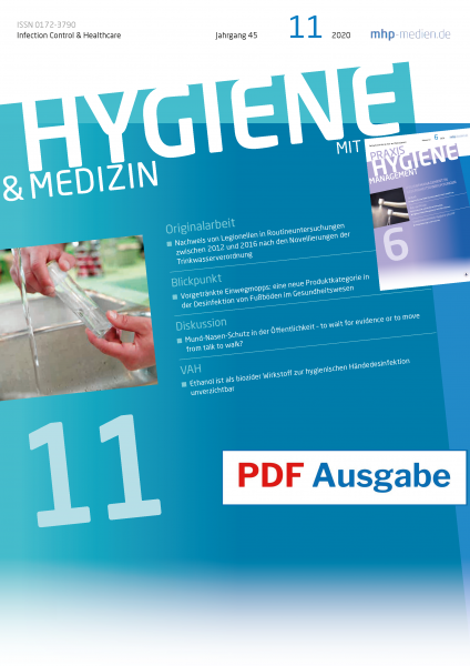 PDF Ausgabe - HYGIENE & MEDIZIN - 11/2020