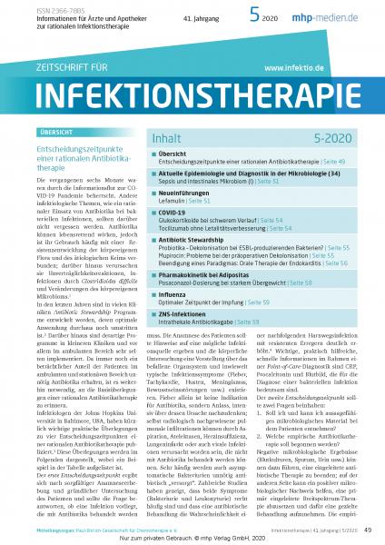 Zeitschrift für Infektionstherapie 05/2020