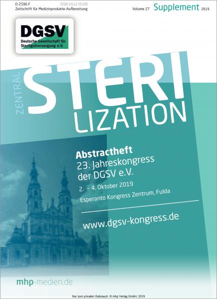 Zentralsterilisation: Abstractheft - 23. Jahreskongress der DGSV e.V.