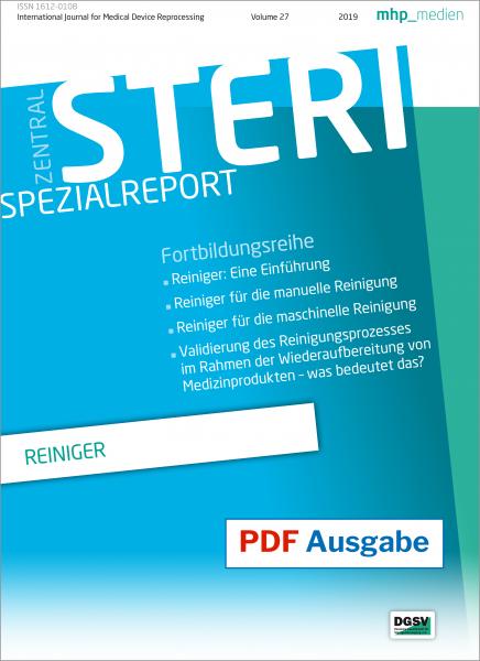 """STERI Spezialreport """"Reiniger"""" pdf-Ausgabe"""