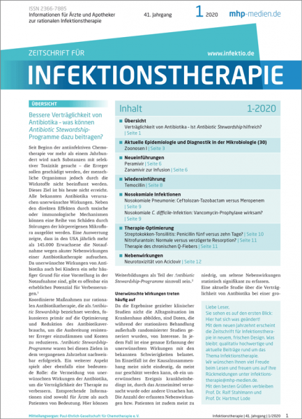Zeitschrift für Infektionstherapie 01/2020