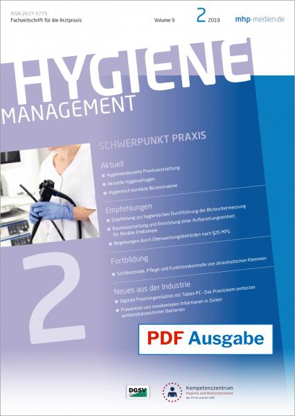 PDF Ausgabe - HYGIENEManagement - 02/2019
