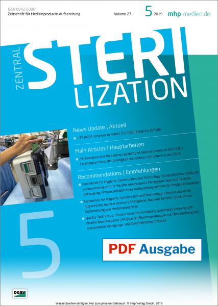 PDF Ausgabe - ZENTRALSTERILISATION 05/2019