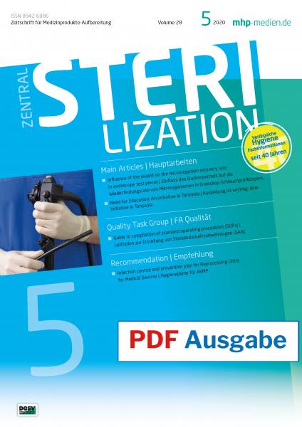 PDF Ausgabe - ZENTRALSTERILISATION 05/2020
