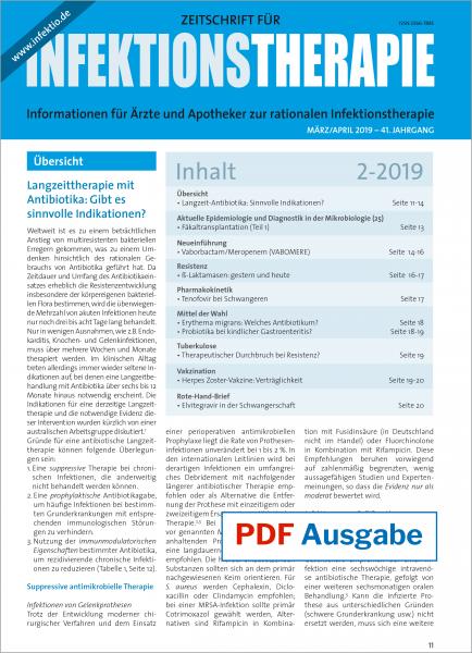 PDF Ausgabe - Zeitschrift für Infektionstherapie 02/2019