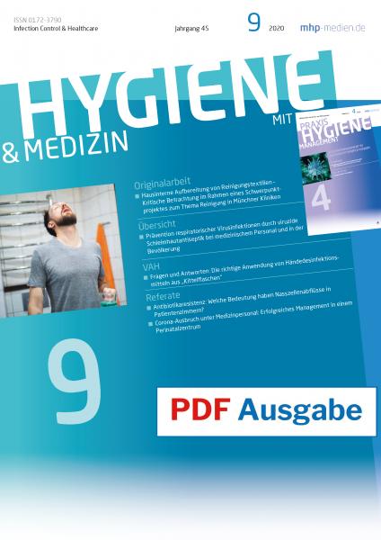 PDF Ausgabe - HYGIENE & MEDIZIN - 09/2020