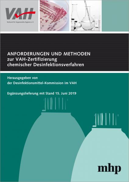 eBook – 4. Ergänzung zu Anforderungen u Methoden zur VAH-Zertifizierung chem. Desinfektionsverfahren