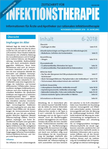 Zeitschrift für Infektionstherapie 06/2018