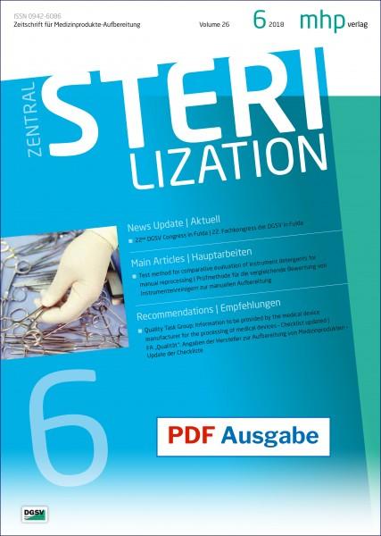 PDF Ausgabe - Zentralsterilisation 06/2018
