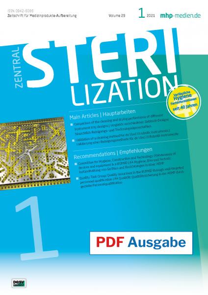 PDF Ausgabe - ZENTRALSTERILISATION 01/2021