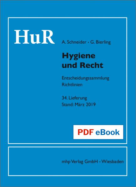 Hygiene und Recht - eBook - 34. Lieferung