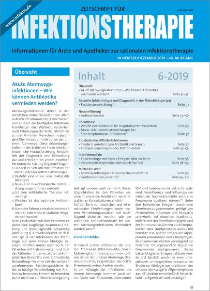 Zeitschrift für Infektionstherapie 06/2019