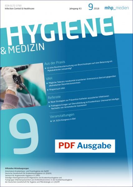 PDF Ausgabe - Hygiene & Medizin 9/2018