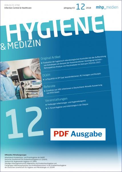 PDF Ausgabe - Hygiene & Medizin 12/2018