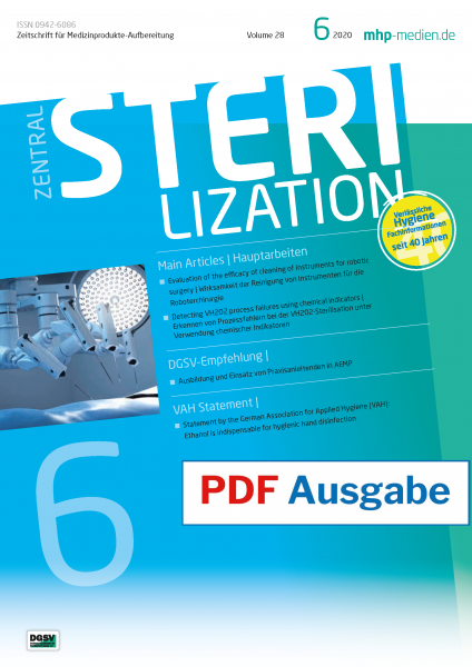 PDF issue - Zentralsterilization 06/2020