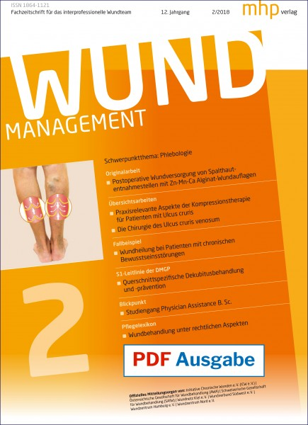 PDF Ausgabe - Wundmanagement 02/2018