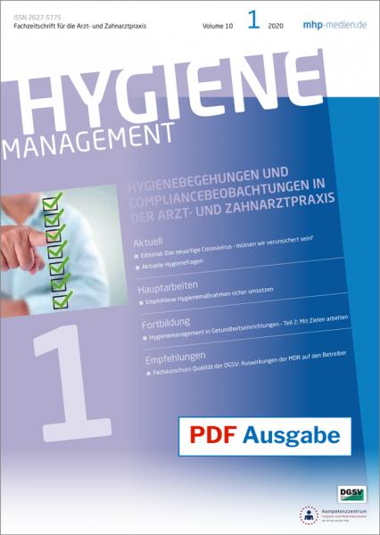 PDF Ausgabe - HYGIENEmanagement - 01/2020