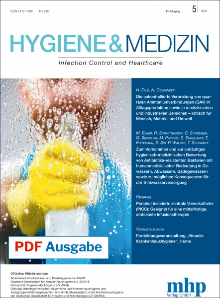 PDF Ausgabe - Hygiene & Medizin 5/2018
