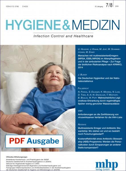 PDF Ausgabe - Hygiene & Medizin 7+8/2018