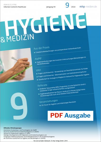 PDF Ausgabe - Hygiene & Medizin - 09/2019