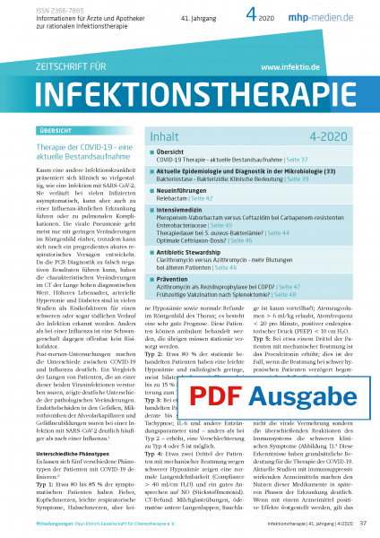 PDF Ausgabe - Zeitschrift für Infektionstherapie 04/2020
