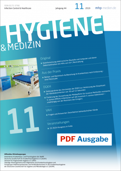 PDF Ausgabe - HYGIENE & MEDIZIN - 11/2019