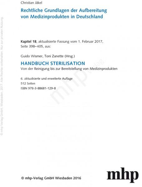 Zusatzkapitel 18 - Rechtliche Grundlagen
