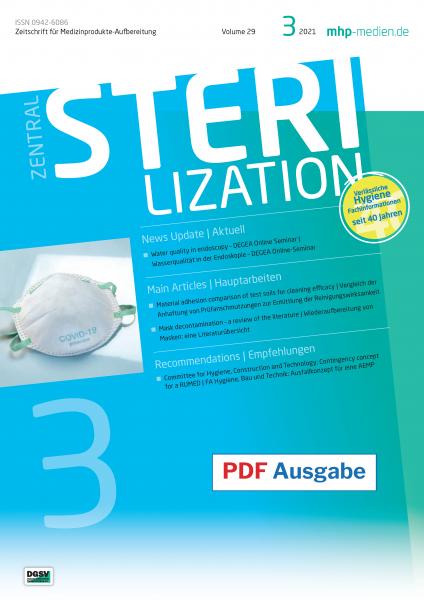 ZENTRALSTERILIZATION 03/2021