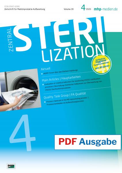 PDF Ausgabe - ZENTRALSTERILISATION 04/2020