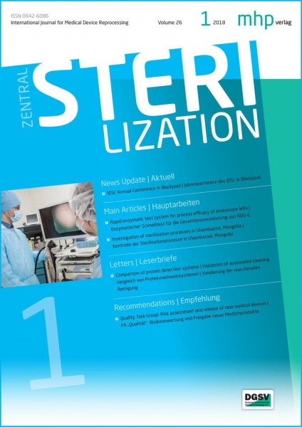 Zentralsterilisation 01/2018