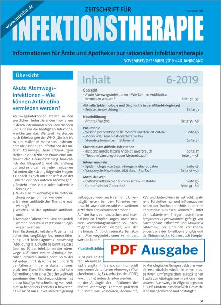 PDF Ausgabe - Zeitschrift für Infektionstherapie 06/2019