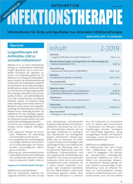 Zeitschrift für Infektionstherapie 02/2019