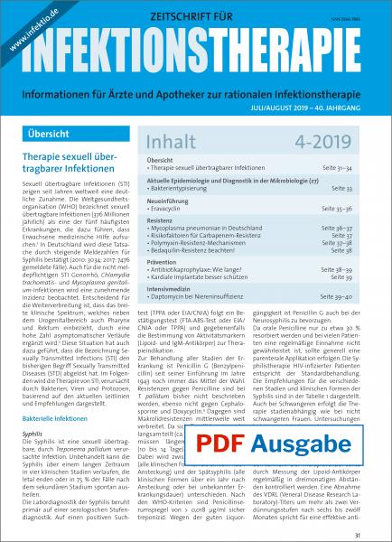 PDF Ausgabe - Zeitschrift für Infektionstherapie 04/2019