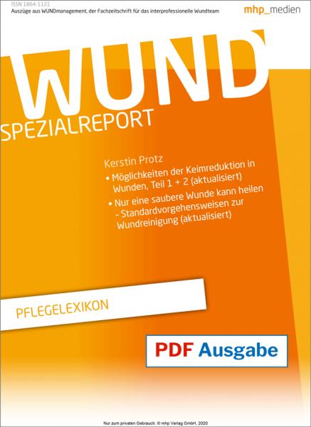 "WUND Spezialreport ""Pflegelexikon"" pdf-Ausgabe"