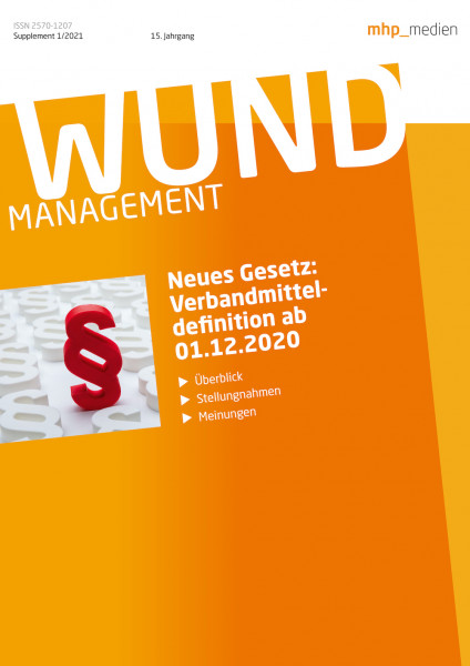 WUND Sonderheft: Verbandmittel Legaldefinition