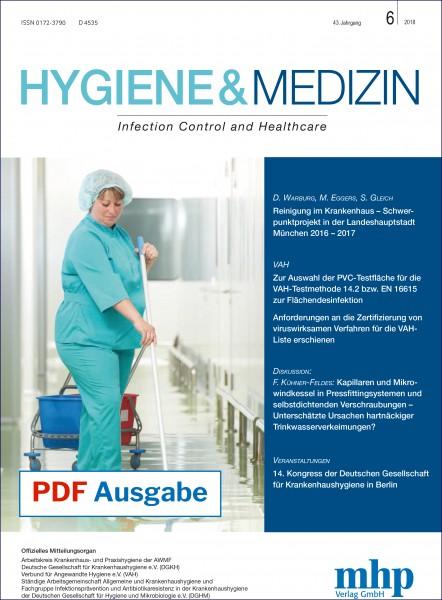 PDF Ausgabe - Hygiene & Medizin 6/2018