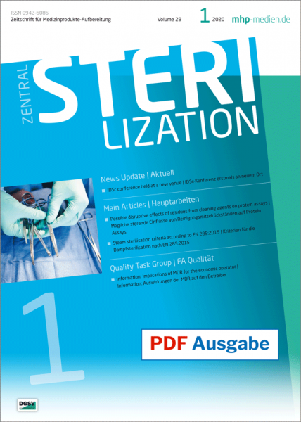 PDF issue - Zentralsterilization 01/2020