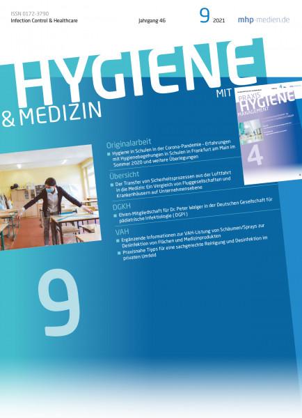 Patientensicherheit im Krankenhaus +++ Hygiene in Schulen +++ in HM 09/2021