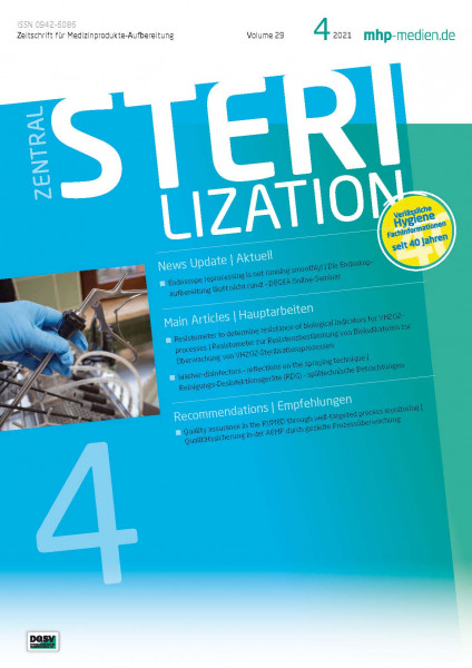Zentralsterilization 4.2021 - the Journal for reprocessing medical devices