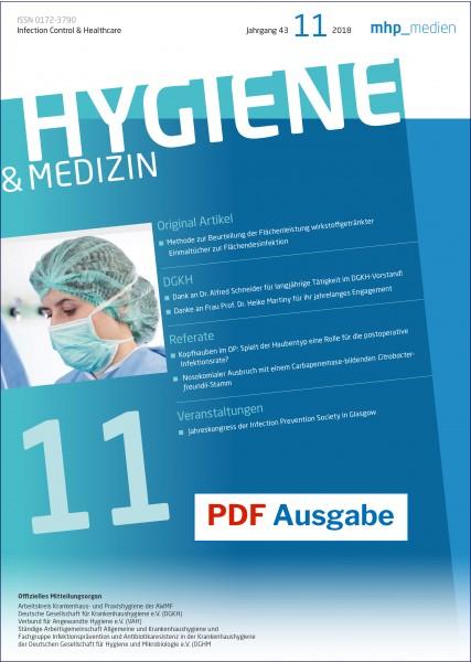 PDF Ausgabe - Hygiene & Medizin 11/2018